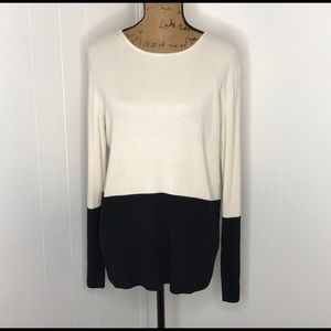 Sharon Young Color Block Tunic Sweater- Size XL